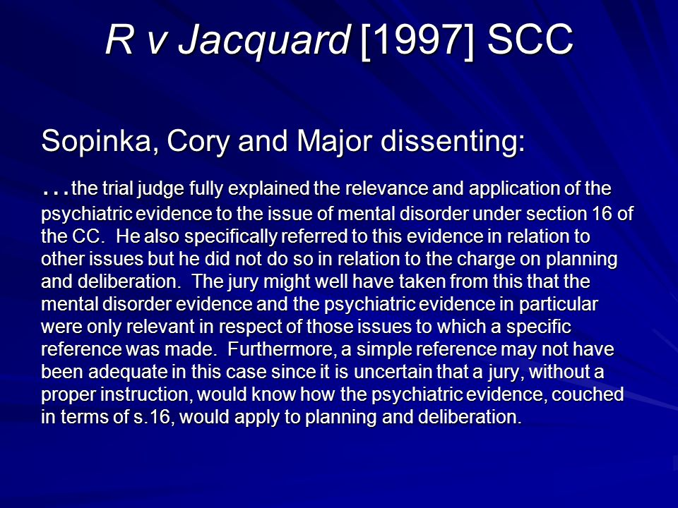 R v Jacquard [1997] SCC